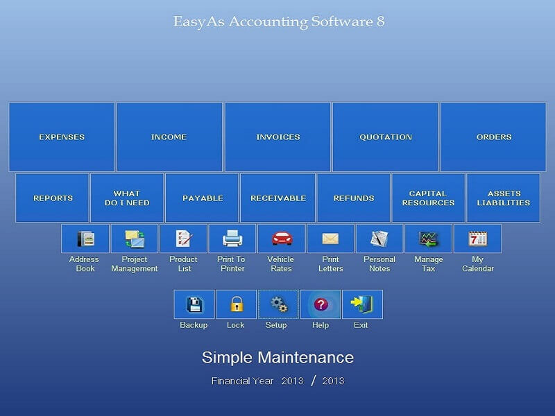 Click to view EasyAs Accounting Software screenshots