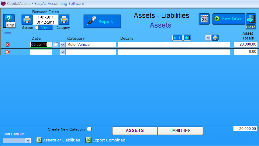 Business Assets and Liabilities