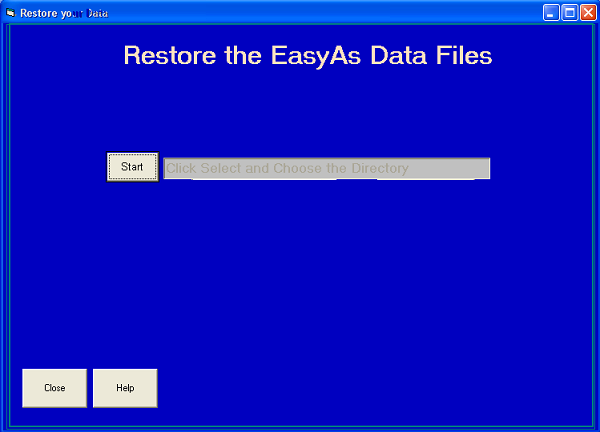 Select the location where your backup files are