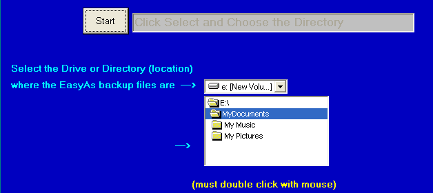 select your directory