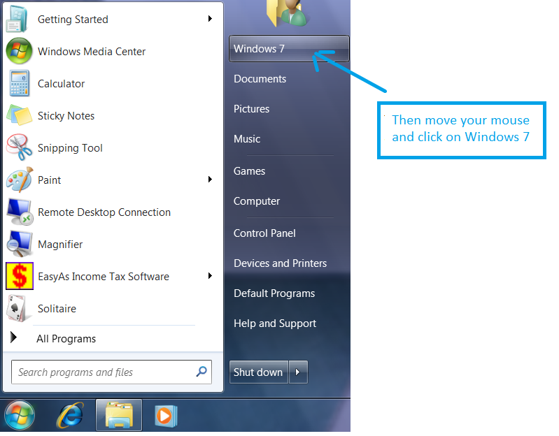Windows 7 Small Business Accounting Installation Step 2